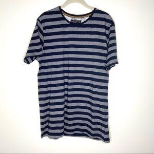 Denim & Flower Ricky Singh Blue Striped Shirt